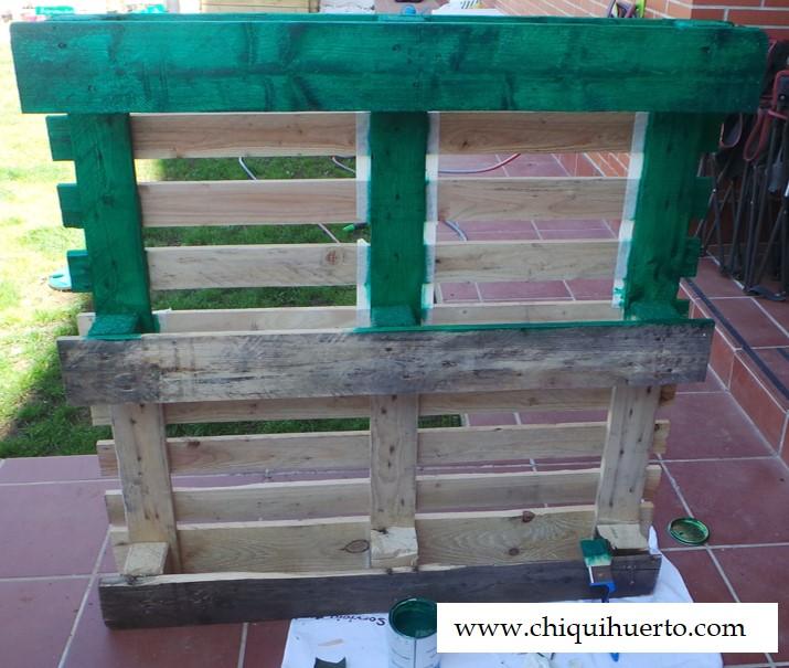 Como hacer un huerto vertical con un palet chiquihuerto - Pintura para hacer pizarra ...